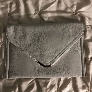 BCBGeneration Gray Envelope Clutch